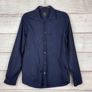 McQ Alexander McQueen Navy Blue Button Shirt